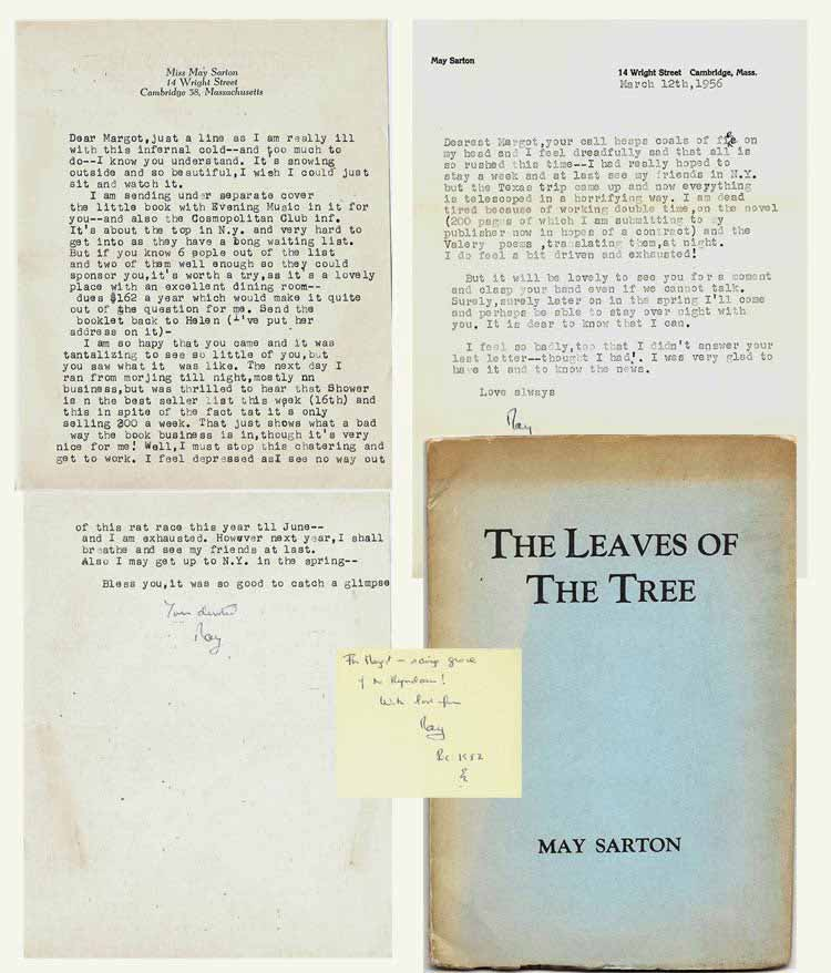THE LEAVES OF THE TREE. Signed. May Sarton.