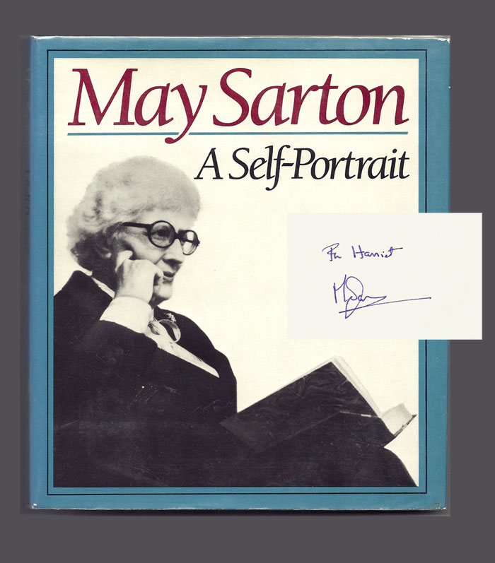 MAY SARTON. A SELF-PORTRAIT. Signed. May Sarton