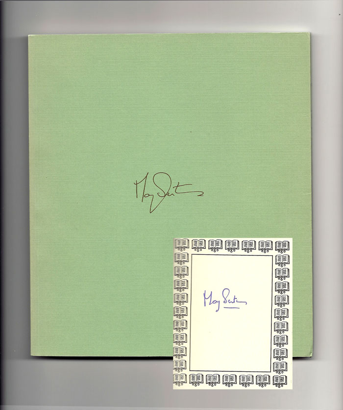 WORLD OF LIGHT. Signed. May Sarton.