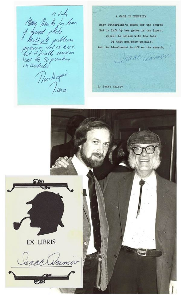 Isaac Asimov & Canadian Holmes Mini Archive. Signed. Isaac Asimov.
