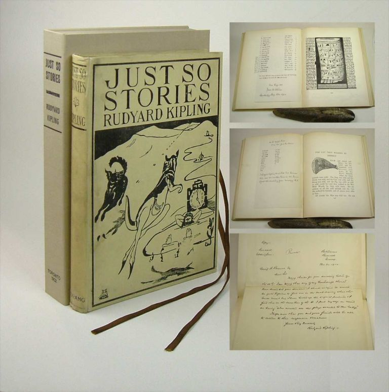 JUST SO STORIES FOR LITTLE CHILDREN. Inscribed. Rudyard Kipling.