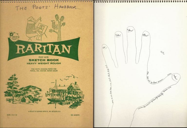 THE POET'S HAND BOOK. Signed By 24 Poets with Drawings. Allen Ginsberg.