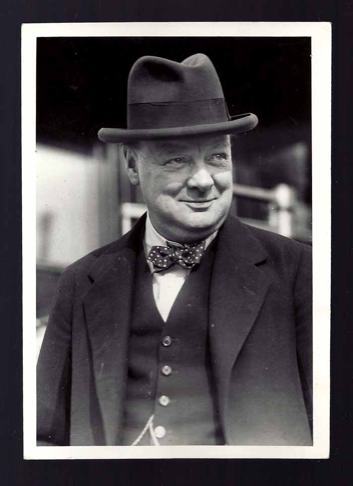 PRESS PHOTO. Winston Churchill.