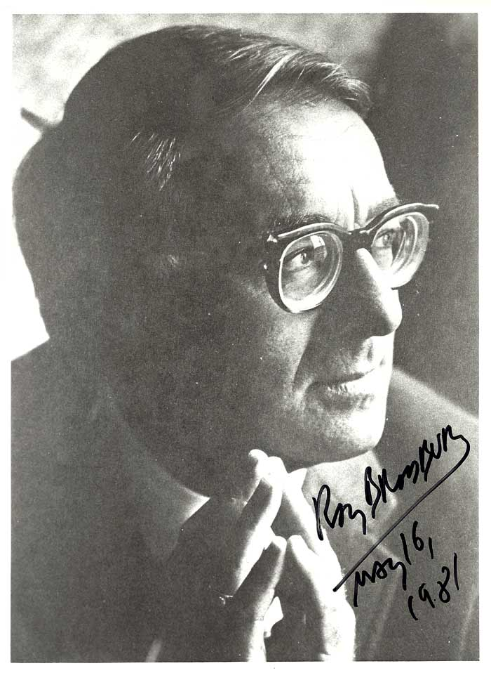 PRESS PHOTO. Signed. Ray Bradbury.