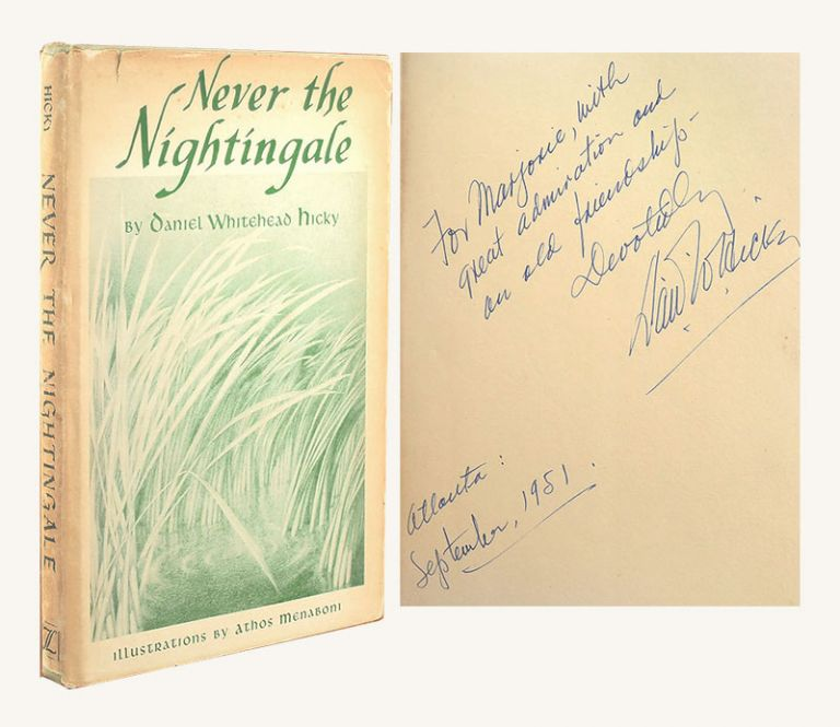 NEVER THE NIGHTINGALE. Signed. Marjorie Kinnan Rawlings, Robert Shaplen