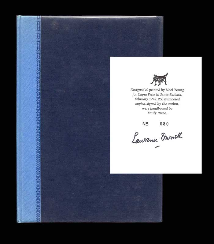BLUE THIRST. Signed. Lawrence Durrell.