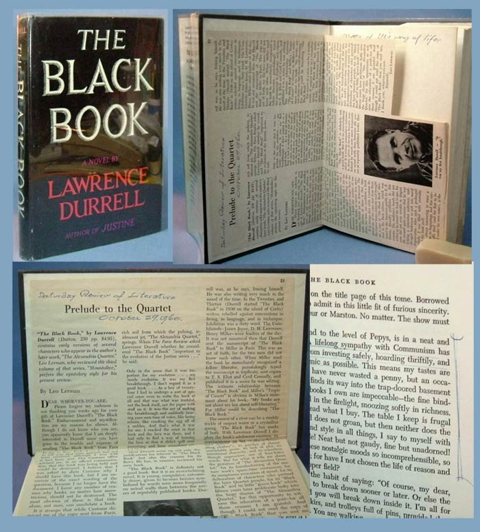 THE BLACK BOOK. Signed. Lous Untermeyer's, Lawrence Durrell
