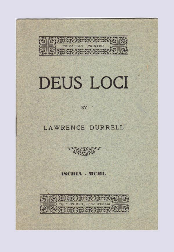DEUS LOCI. A Poem. Signed. Lawrence Durrell