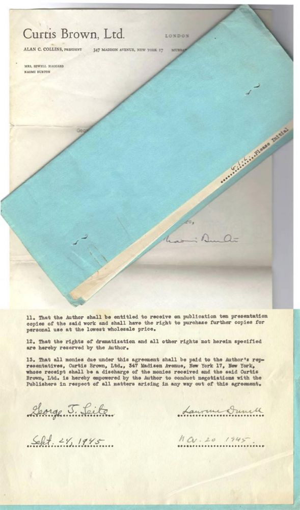 ORIGINAL CONTRACT. Lawrence Durrell