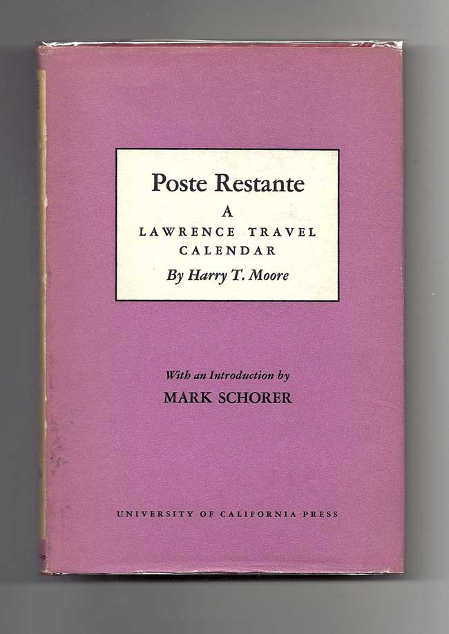 POSTE RESTANTE. A Lawrence Travel Calendar. D. H. Lawrence, Harry T. Moore
