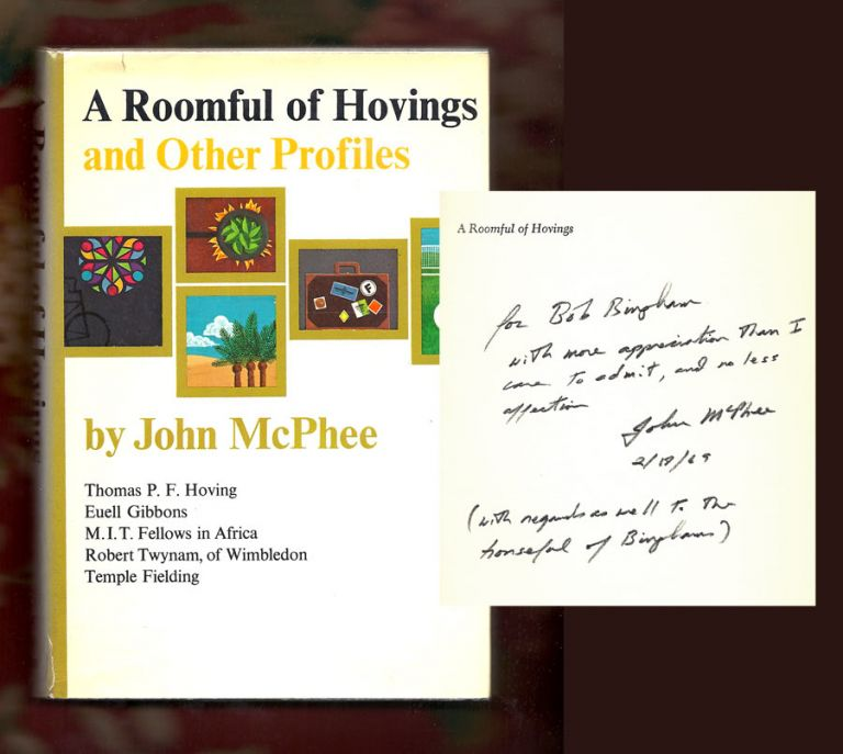 A ROOMFUL OF HOVINGS. Signed. John McPhee