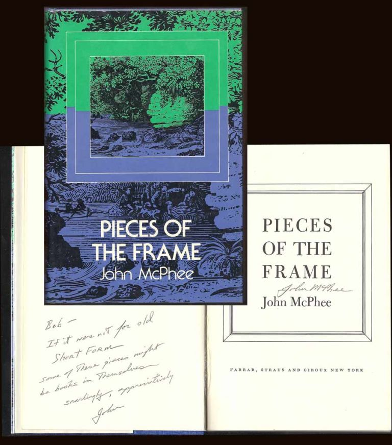 PIECES OF THE FRAME. Signed. John McPhee.