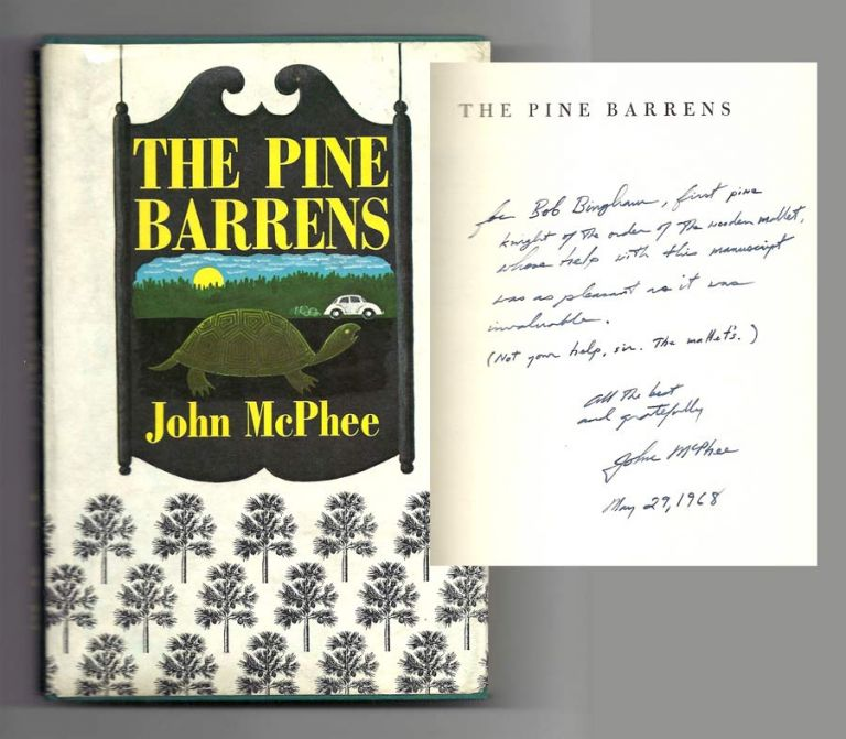THE PINE BARRENS. Signed. John McPhee
