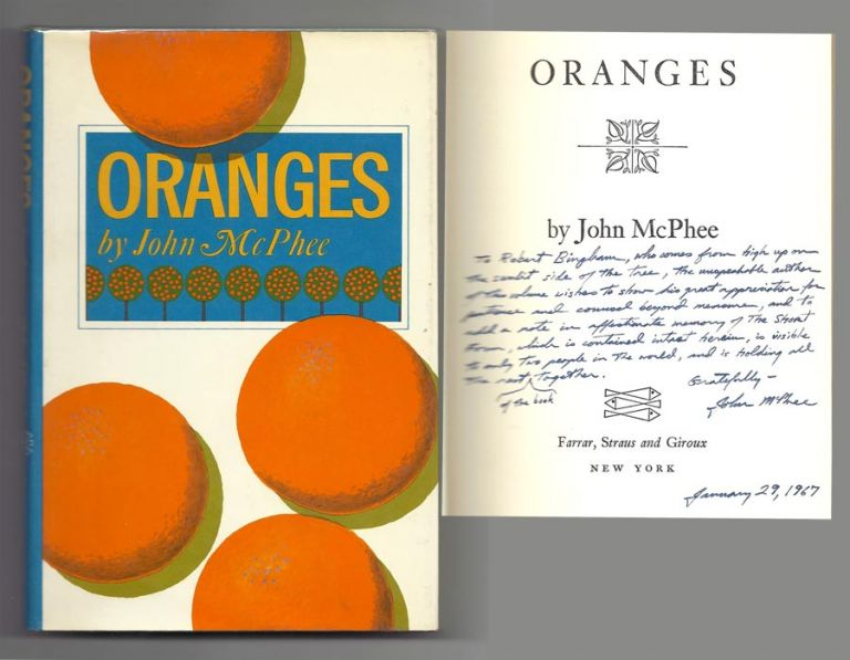 ORANGES. Signed. John McPhee