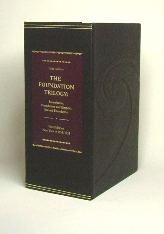 THE FOUNDATION TRILOGY. being FOUNDATION, FOUNDATION AND EMPIRE & SECOND FOUNDATION. Custom Clamshell Case Only 'A'. Issac. Custom Clamshell Case Asimov, NO BOOK INCLUDED.