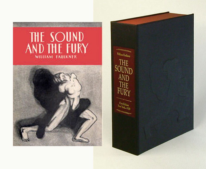 SOUND AND THE FURY. Custom Clamshell Case Only. William Faulkner.