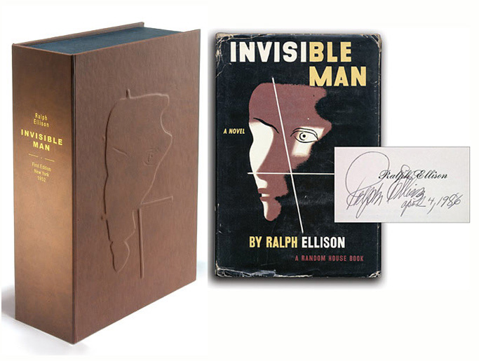 INVISIBLE MAN. Custom Collector's 'Sculpted' Clamshell Case. Ralph Ellison
