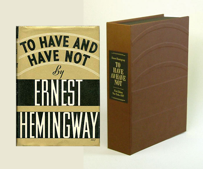 TO HAVE AND HAVE NOT. Custom Collector's 'Sculpted' Clamshell Case. Ernest Hemingway