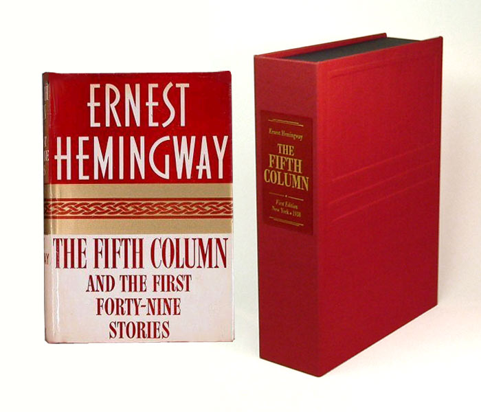 THE FIFTH COLUMN. Custom Collector's 'Sculpted' Clamshell Case. Ernest Hemingway