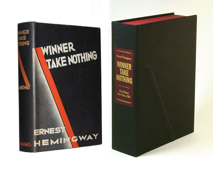 WINNER TAKE NOTHING. Custom Collector's 'Sculpted' Clamshell Case. Ernest Hemingway