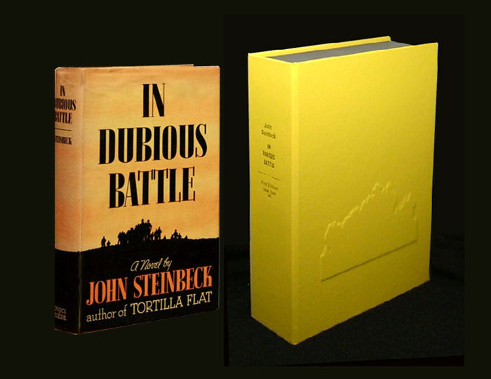 IN DUBIOUS BATTLE. Custom Collector's 'Sculpted' Clamshell Case. John Steinbeck