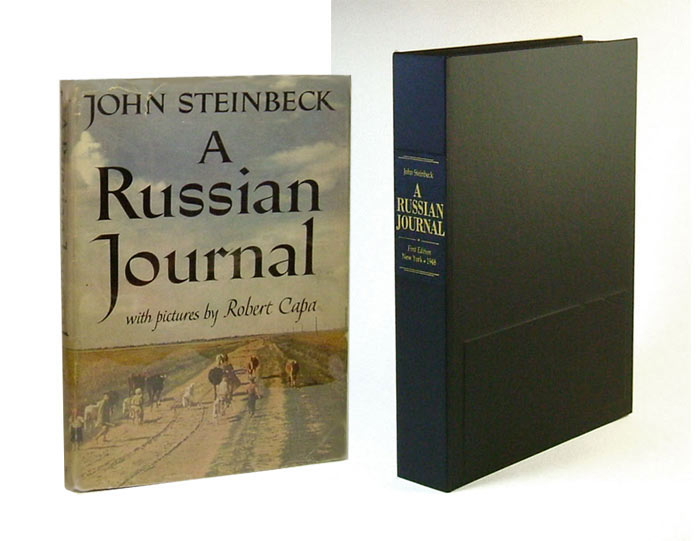 A RUSSIAN JOURNAL. Custom Collector's 'Sculpted' Clamshell Case. John Steinbeck.