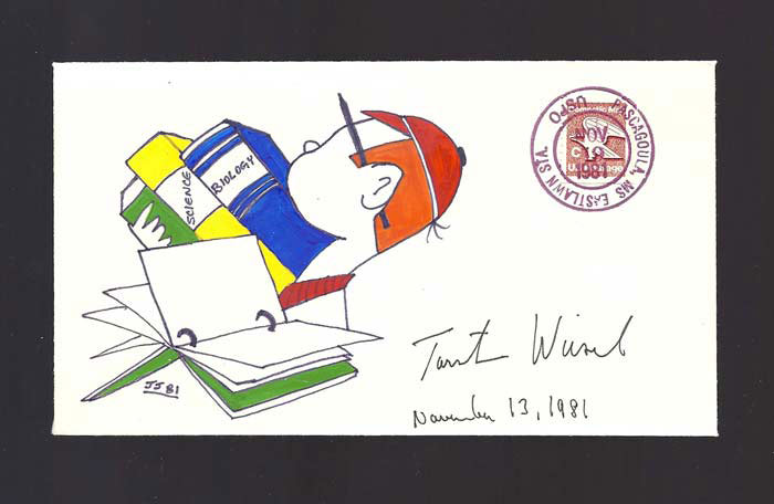 Signed FDC - First Day Cover. Nobel Prize. Torsten Nils Wiesel, 1924