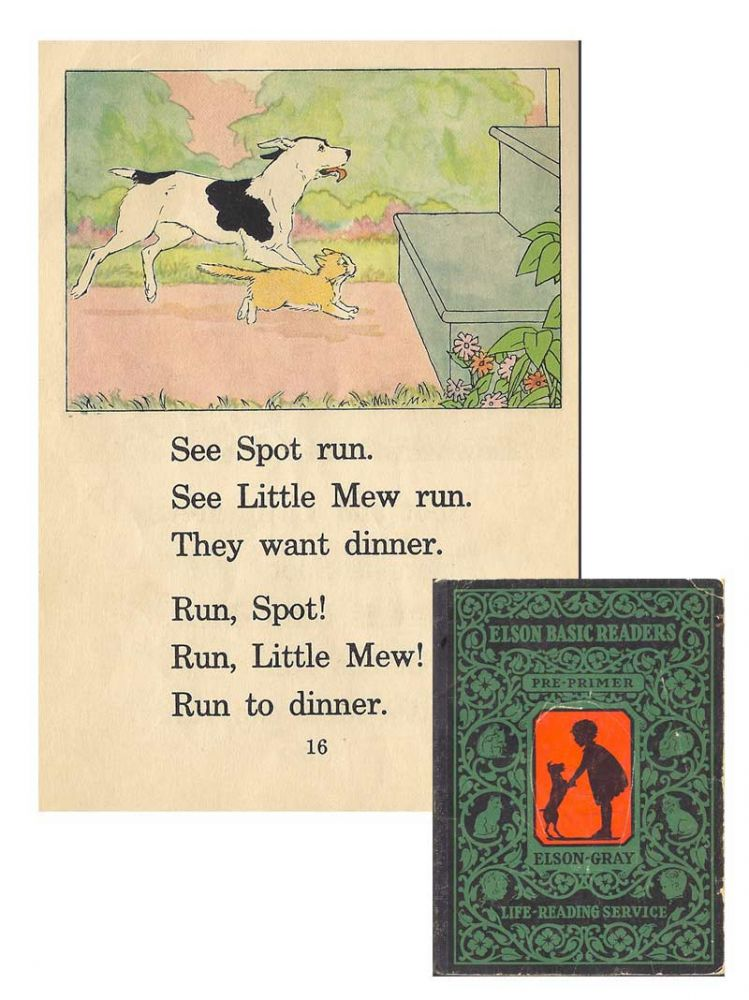 ELSON-GRAY BASIC READER. PRE-PRIMER [Dick and Jane]. William H. Elson, , William S. Gray.