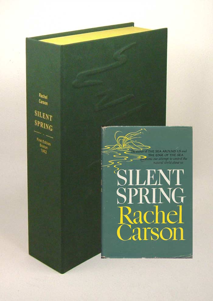 SILENT SPRING.Custom Collector's 'Sculpted' Clamshell Case. Rachel L. Carson.