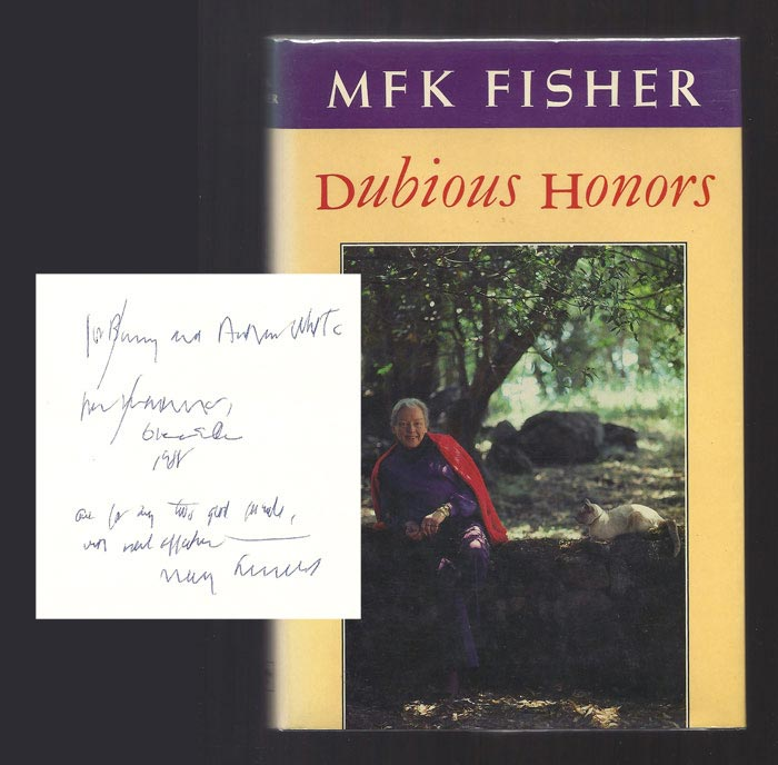 DUBIOUS HONORS. Inscribed. M. F. K. Fisher