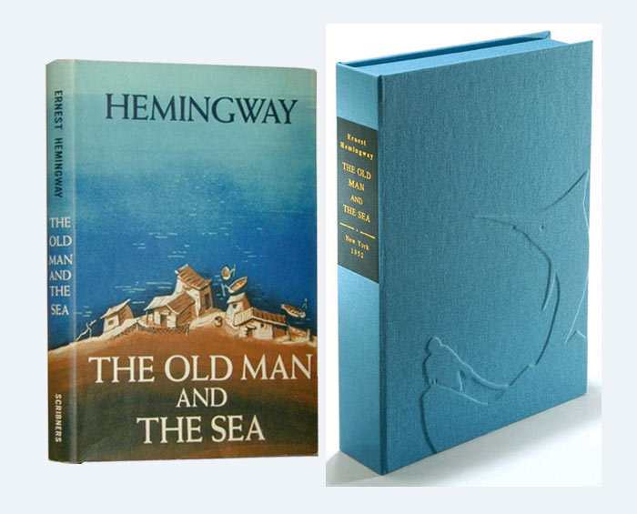 THE OLD MAN AND THE SEA. Custom Collector's 'Sculpted' Clamshell Case. Ernest Hemingway.