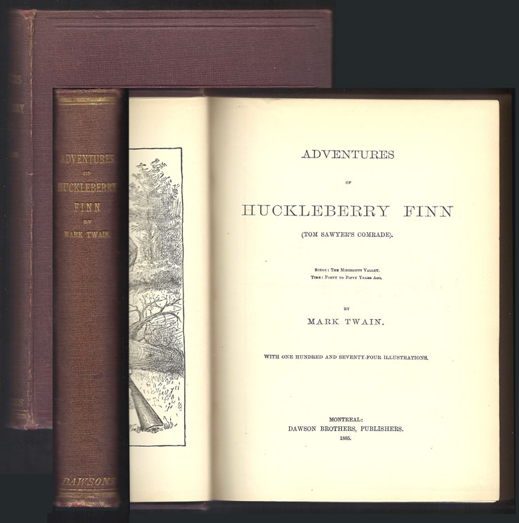 ADVENTURES OF HUCKLEBERRY FINN. (Tom Sawyer's Comrade). Mark Twain, S. Clemens