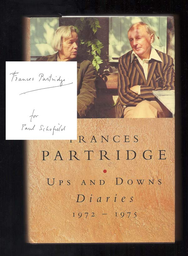 UPS AND DOWNS. Diaries. 1972 - 1975. Signed. Bloomsbury Group, Frances Partridge
