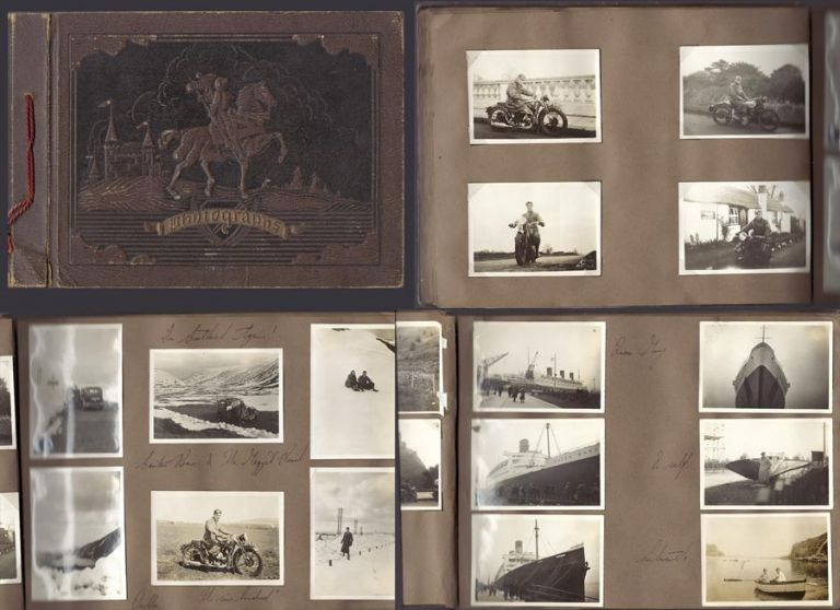 1935 -1940] ORIGINAL PHOTO ALBUM OF A 27 YEAR OLD BRITISH R.A.F. PILOT. Including his King George...