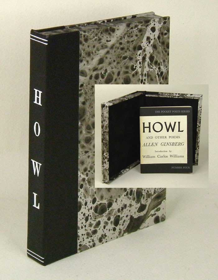 HOWL AND OTHER POEMS. Custom Clamshell Case. [Not A Book]. Allen Ginsberg.