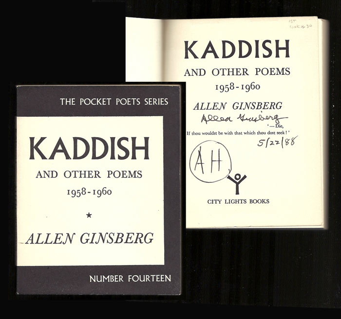 KADDISH AND OTHER POEMS 1958-1960. Signed. Allen Ginsberg