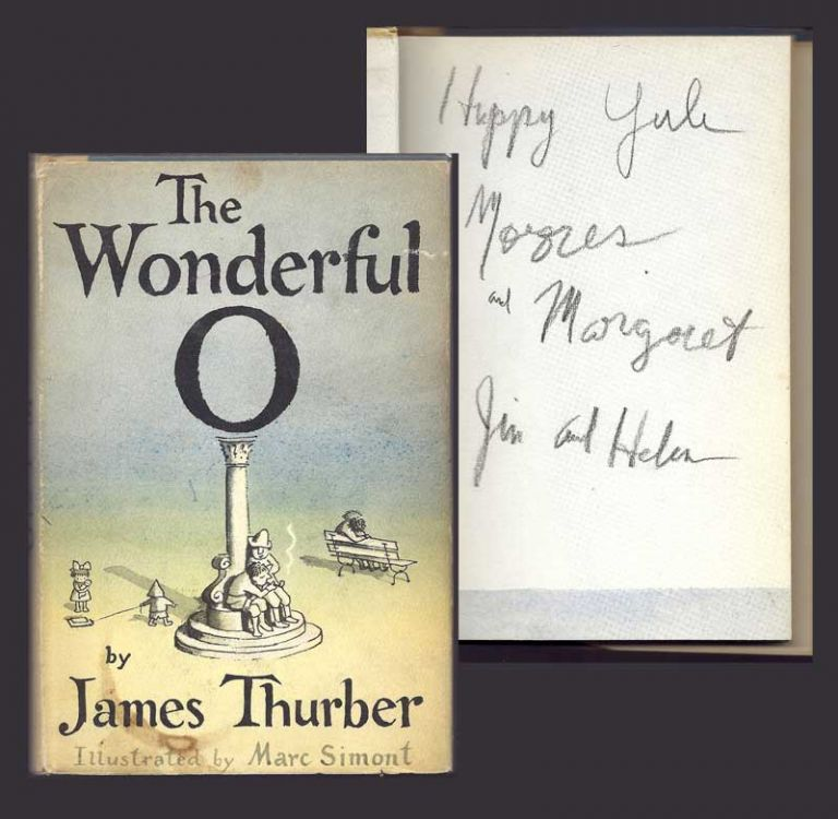 THE WONDERFUL O. Inscribed. James Thurber.