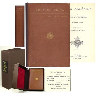ANNA KARÉNINA. In Eight Parts. Translated by Nathan Haskell Dole. Leo Tolstoy, Lev Nikolaevich Tolstoy.