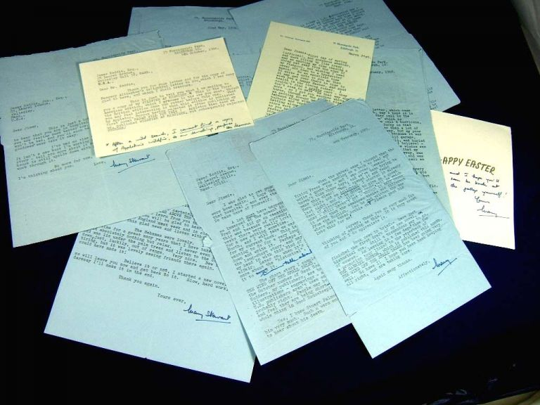 A SPLENDID ARCHIVE OF A DOZEN FINE SIGNED LETTERS [11 TLS +1 ANS][The Merlin Chronicles]. Mary Stewart.