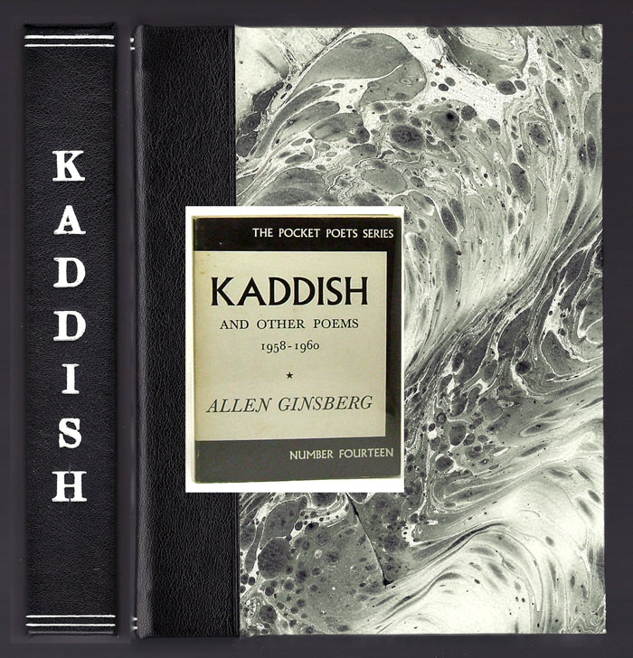 KADDISH. Custom Clamshell Case. [Not A Book]. Allen Ginsberg