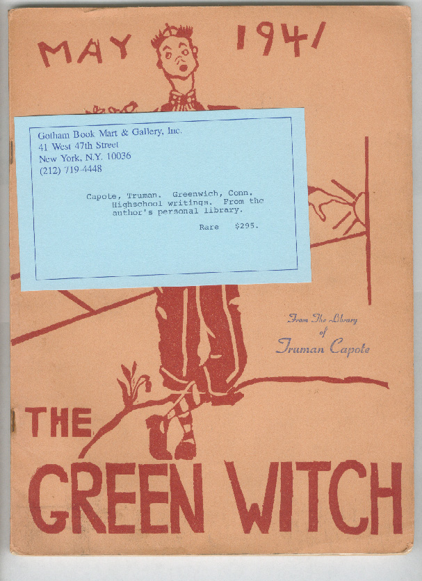 THE GREEN WITCH. Truman Capote, Harold Arlen.