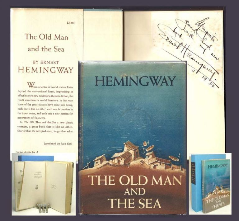 THE OLD MAN AND THE SEA. Signed. Ernest Hemingway.