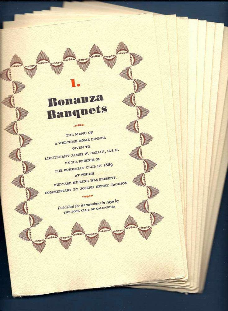 BONANZA BANQUETS. A Keepsake For 1950. M. F. K. Fisher