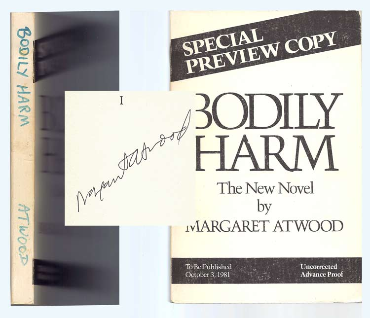 BODILY HARM. Signed. Margaret Atwood.