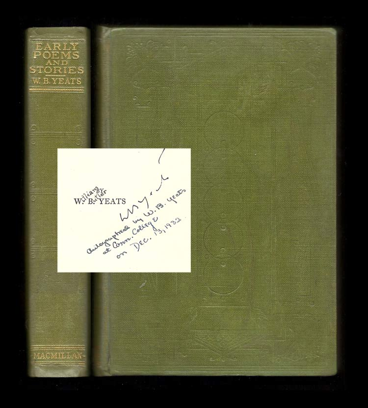 EARLY POEMS AND STORIES. Signed. William Butler Yeats.