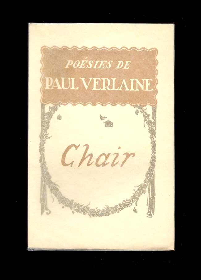 CHAIR. Bookseller Image Chair. [Poésies de Paul Verlaine]. Paul Verlaine