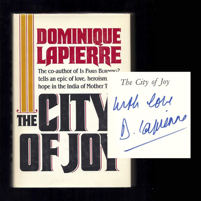 CITY OF JOY. Inscribed. Dominique LaPierre