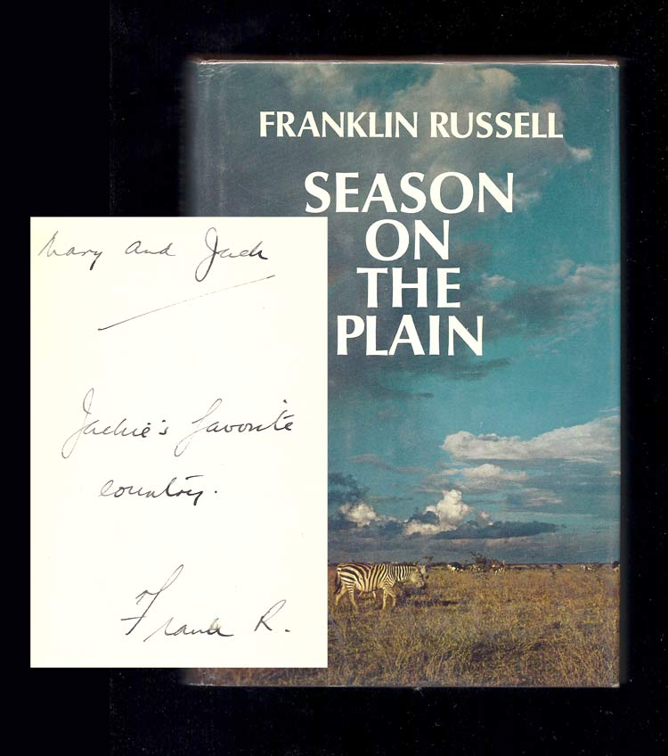 SEASON ON THE PLAIN. Inscribed. Franklin Russell