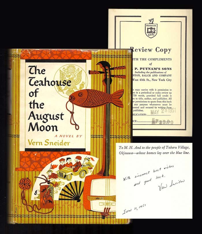 THE TEAHOUSE OF THE AUGUST MOON. Inscribed. Vern Sneider