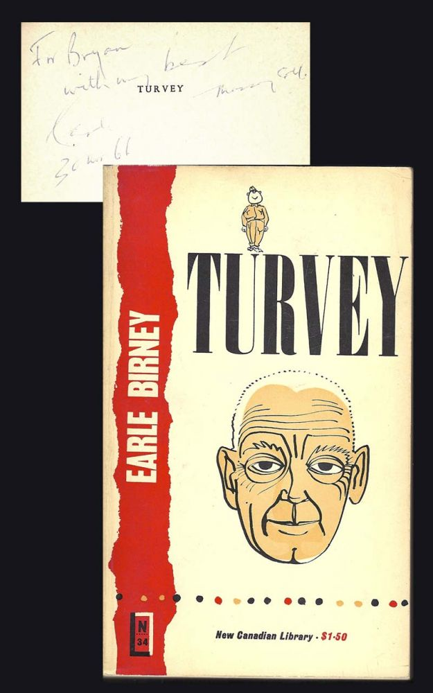 Turvey a military picaresque signed earle birney 1st edition